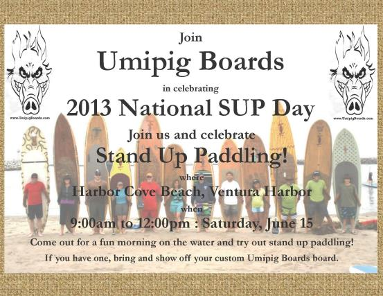 Celebrate Nat'l SUP Day with us at Harbor Cove Beach, Ventura Harbor.  Saturday June 15, 9am - 12pm